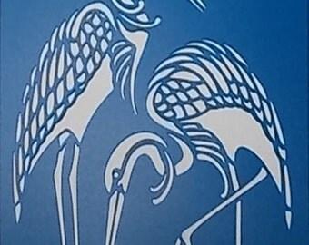 Cranes Stencil