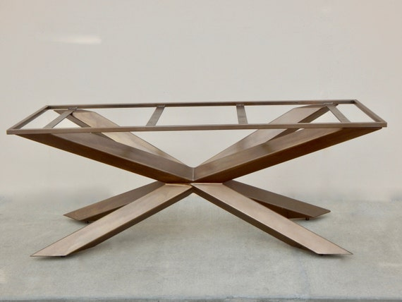 Industrial Steel Table base Dining Table by InvictusSteelworks