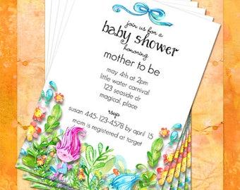 Trolls Baby Shower Invitations Trolls Invitation Customize Instant Download
