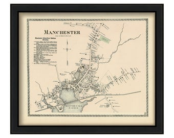 Village of Manchester by the Sea 1872 Map