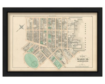 Map of Part of South Boston - 1874 Ward 12 Plate C