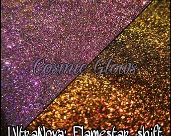 Ultranova super chromatic shift glitters: Flamestar