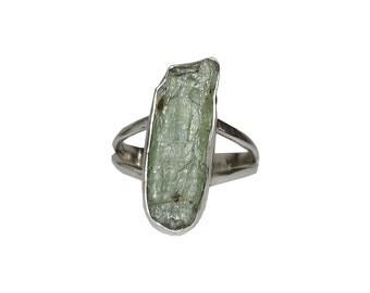 Artisan Hand made Sterling Silver Green Tourmaline Ring