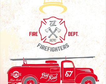 Firefighter Paper Backdrop, Firefighter Party Backdrop, Fireman Party Ideas, Fireman Party Favors, Firetruck Party Decor, Firefighter Party.