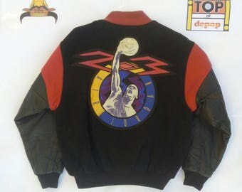 Nike Jordan vintage varsity jacket leather