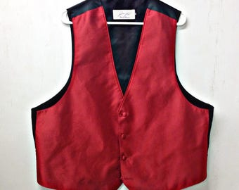 Mens RED FORMAL TEXTURED Suit Vest,prom,wedding,disco