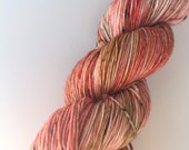 """SANDIA - hand dyed fine fingering sock weight yarn (4 oz./434 yds.) colorway """"Red Chile"""""""
