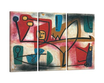 On canvas Tris framed Paul Klee Arrogance