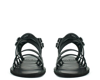 Men black sandals, Sandals, Leather mens sandals, Sandals for men, Greek sandals, Men shoes