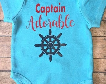 Captain adorable,Boys onesie