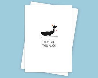 Valentines Day cards, I love you this much, I love you card, love you cards, funny card, anniversary card, girlfriend card valentines