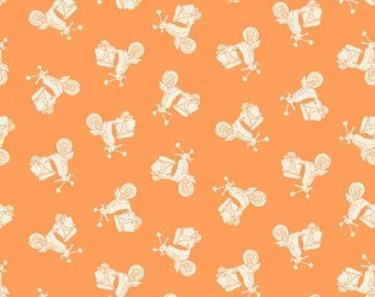 Makower Scooters Fabric from the Vacation Range 100% Cotton