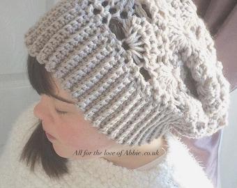SLOUCHY hat. CROCHET hat. Winter hat. Slouchy crochet hat. Autumn hat. FALL hat. Woolly hat.