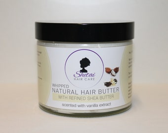 Natural Hair Butter 250ml from Shetai, vanilla scented | Shea Butter | Coconut Oil | Vitamin E Oil | Essential Oils | 100% Natural Hair Care