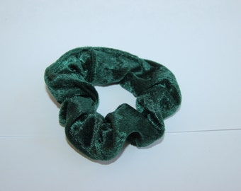 Green Crushed Velvet Scrunchie
