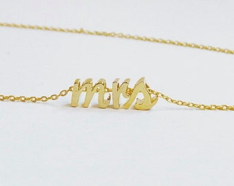 mrs necklace for bride or engagement gift