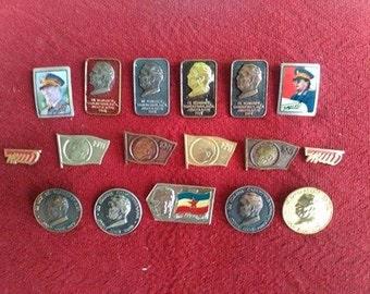 Josip Broz Tito SFRJ Yugoslavia Communist Vintage Pins Badges Collection Enamel Badges Originals