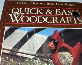 Quick & Easy Woodcrafts / Better Homes and Garden / Vintage 1987 / Toys and Games / Christmas Ornaments / Yard and Deck Trims / Flowers