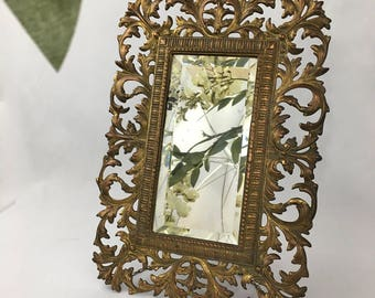 antique 1800s brass ornate free standing mirror wall ornate bevelled vanity mirror swing easel back wall