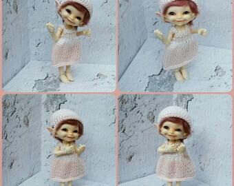 Sunny dress with 2 caps for Realpuki size bjd dolls # 64932