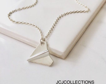 SALE... Paper Airplane Necklace