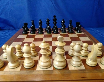 Redues Price Chess set - Board is hand made from solid cherry, walnut and maple