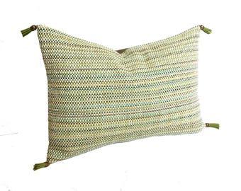 Robert Allen Green Pillow | Spring Pillow | Designer Green Pillow | Robert Allen Relaxed Hues