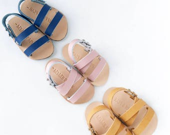 Leather Baby Sandal- Pick Style and color