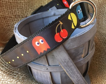 Dog Collar Pacman, Pacman Dog Collar, Video Game Dog Collar, Pacman, Pacman Collar, Retro Dog Collar, Pacman Video Game, Dog Collar