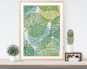 Leaf Vein Art cross stitch pattern| Modern spring summer leaf skeleton counted chart| Minimalist nature wall decor| Large size epattern pdf