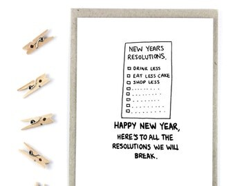 New Year Card - Breaking Resolutions