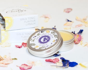 Gin Lip Balm - Gin and Tonic - Cocktail Lip Balm - Hen Party Bag - Cocktail Lovers - Alcohol Lip Balm - Bridesmaid gift idea