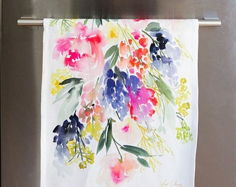 Meadow - Watercolor Tea Towel
