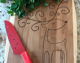 SALE** Reindeer Woodburned Cutting Board
