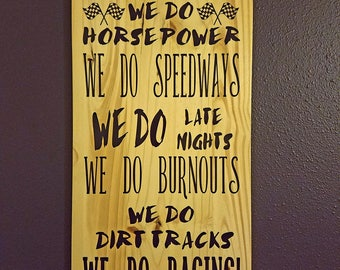 In Our Family racing sign