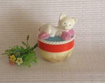 Avon 'Miss Lollypop' -cat cream sachet bottle/jar Empty 1968