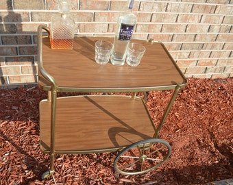 1960s wheeled bar cart
