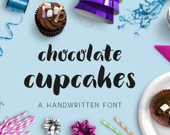 Chocolate Cupcakes handwritten font font