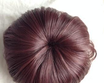 Clip in hair Bun / Doughnut Style hair bun / Hair Extension / Prom Hair Piece /  Bridesmaids /Hair Accessory