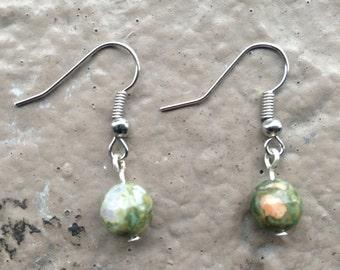 Reiki Infused Rhyolite Earrings