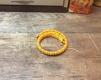 Vintage Necklace Choker Orange Yellow Sunshine