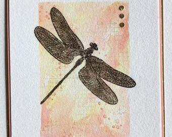 Handmade Dragonfly Birthday Card