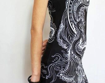 sea anemone dress, artistic dress