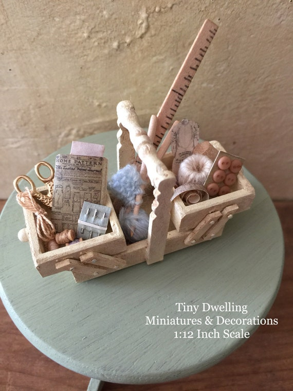 Miniature sewing basket