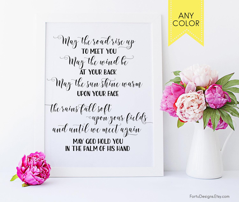 Funny Wedding Gifts Ireland : irish prayer printable happy patty day true irish blessing etsy may ...
