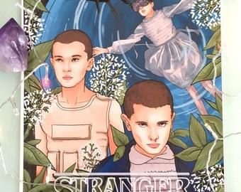 Eleven, Stranger Things, A3 Art Print