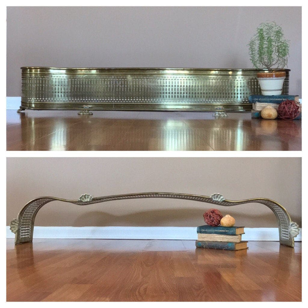 antique brass fireplace fender brass fireplace