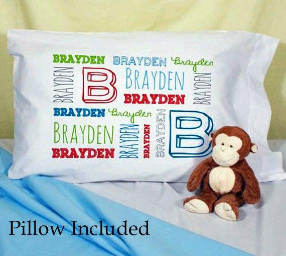 Personalized Toddler Pillow Toddler Pillow Case Pillowcase