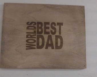 Personalised Father's Day Plaque