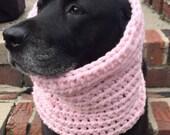 Pink Dog Snood — Dog Scarf — Snood For Dog — Pink Dog Scarf — Infinity Dog Scarf — Unique Dog Gift